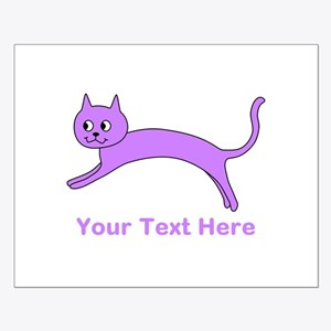 Jumping Purple Cat, Text. Posters