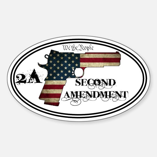 2A - Second and We the People - Sticker (Oval)