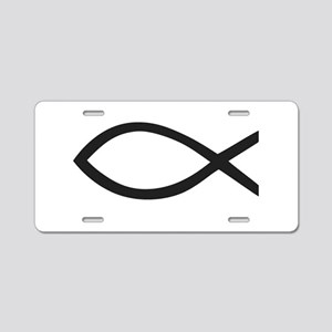 Christian Fish Symbol Aluminum License Plate