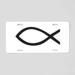 Christian Fish Symbol Aluminum License Plate