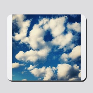 Fluffy Clouds Print Mousepad