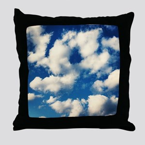 Fluffy Clouds Print Throw Pillow