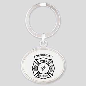 Firefighter Wives Oval Keychain