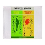 Success Indicator Throw Blanket