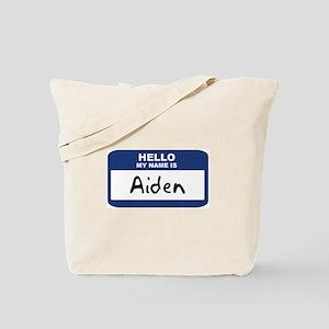 Hello: Aiden Tote Bag