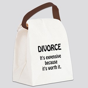 Divorce Worth It Canvas Lunch Bag