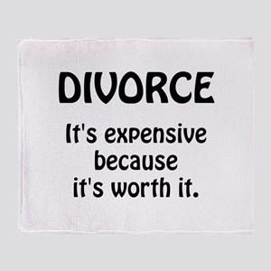 Divorce Worth It Throw Blanket