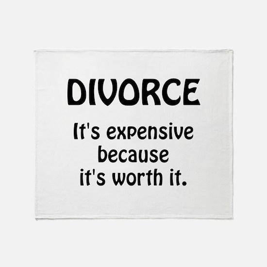 Divorce Worth It Throw Blanket