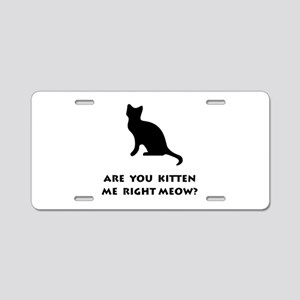 Kitten Meow Aluminum License Plate
