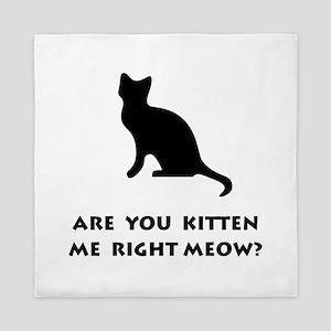 Kitten Meow Queen Duvet