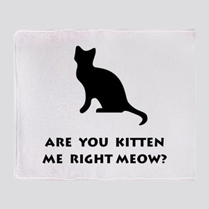 Kitten Meow Throw Blanket