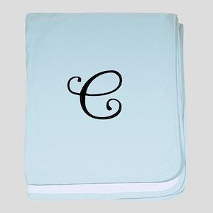 A Yummy Apology Monogram C baby blanket