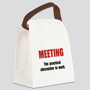 Meeting Work Canvas Lunch Bag