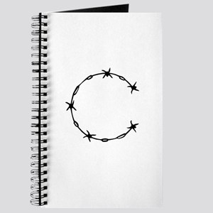 Barbed Wire Monogram C Journal