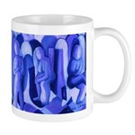 Reflections Blue II Abstract Azure Angels Mug