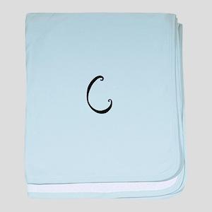 Bellyfish Monogram C baby blanket