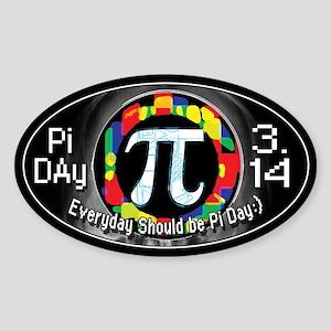 Pi Day Oval 1 Sticker (Oval)