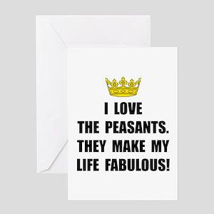 Peasants Fabulous Greeting Card