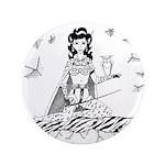 "Ice Empress Dominatrix 3.5"" Button"
