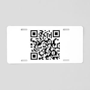 QR Code Aluminum License Plate