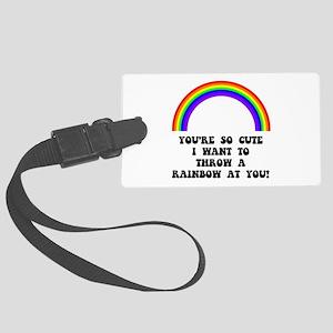 Throw A Rainbow Luggage Tag
