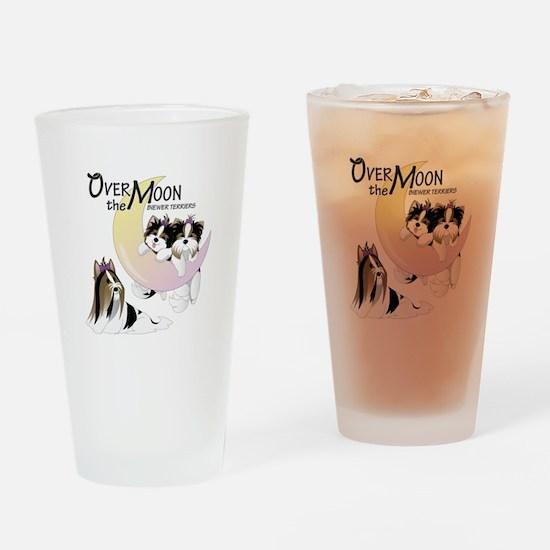 Biewer puppies Drinking Glass