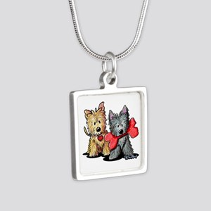 Cairn Duo Silver Square Necklace