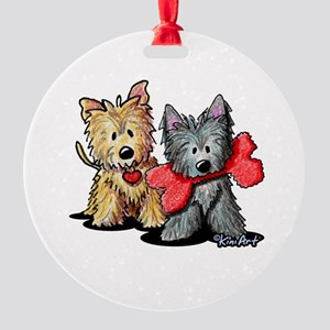 Cairn Duo Round Ornament