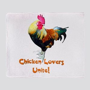 Chicken Lovers Throw Blanket