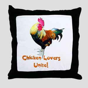 Chicken Lovers Throw Pillow