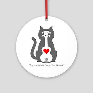 Cat Uke Ornament (Round)