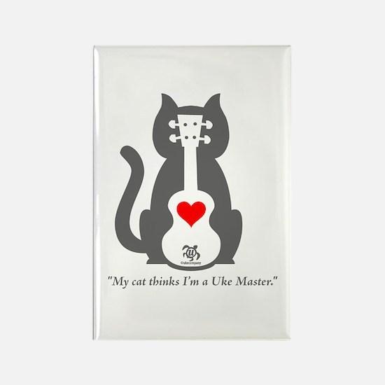 Cat Uke Rectangle Magnet