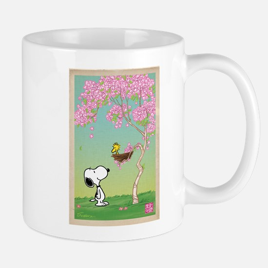 Woodstock in Cherry Blossoms Mugs