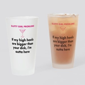 Drinking Glass IF MY HIGH HEELS