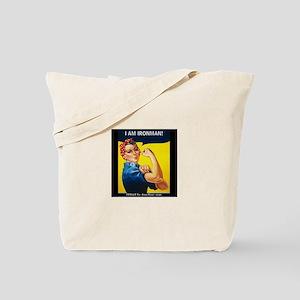Rosie Ironman Black Background Tote Bag