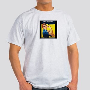 Rosie Ironman Black Background T-Shirt