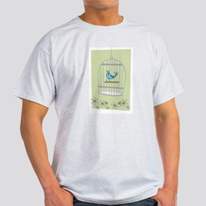 Bluebird in Cage T-Shirt