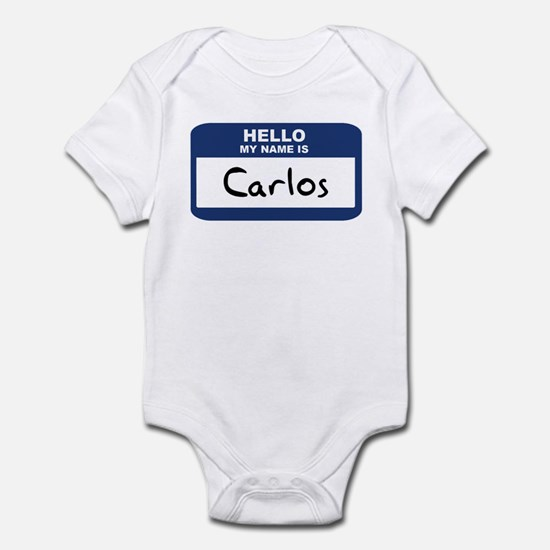 Hello: Carlos Infant Bodysuit