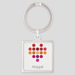 I Heart Abigail Square Keychain