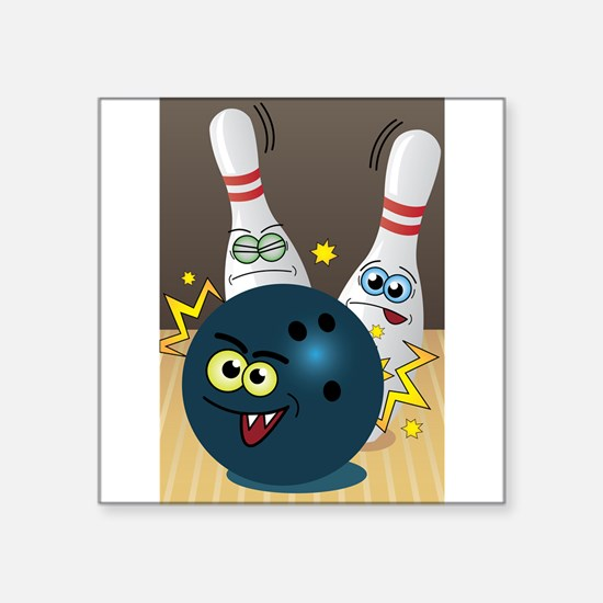 Hilarious Bowling Ball and Pins Sticker