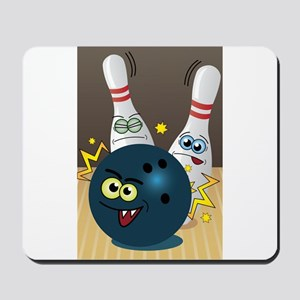 Hilarious Bowling Ball and Pins Mousepad
