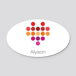 I Heart Alyson Oval Car Magnet