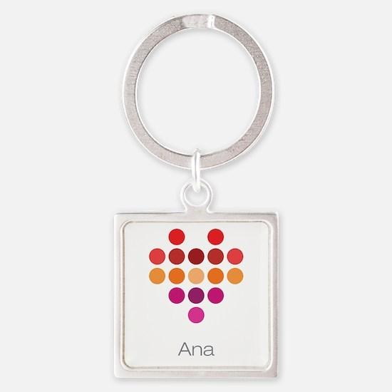 I Heart Ana Square Keychain