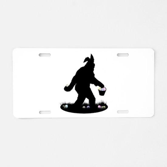 Easter Squatchin Aluminum License Plate