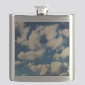 Fluffy Clouds Print Flask