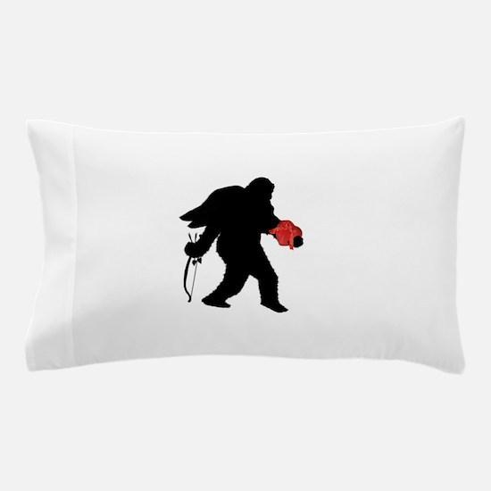 Valentine Sasquatch Pillow Case