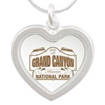 Grand Canyon National Park Silver Heart Necklace