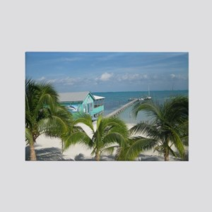 Beautiful Belize beach Rectangle Magnet