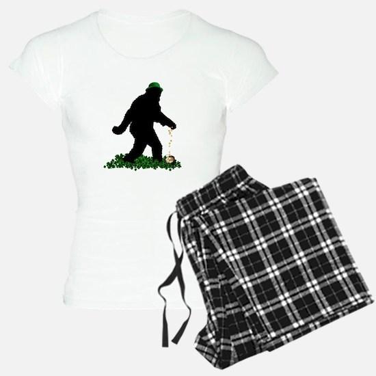 Lucky St Patricks Day Sasquatch Pajamas