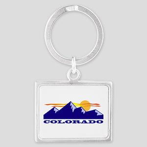Colorado Rocky Mountains Landscape Keychain